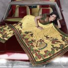 Indian Womens Clothing Saree Embroidered Saree Sari - X15009