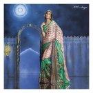 Sattin Patti Designer Partywear Printed Sarees Sari With Blouse - LPT2007