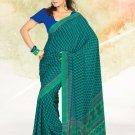 Faux Crape Sarees Sari Designer Printed Casual Fancy Saris - X 817B