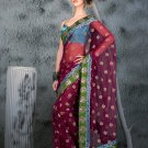 Indian Bollywood Designer Embroiderey Wedding Bridal Saree Sari - CH 1122