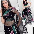 Net Brasso Wedding Designer Embroidered Indian Saree Sari With Blouse - TS 21010