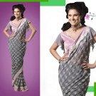 Embroiderd Bridal Wedding Designer Sarees Sari - X2266