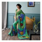 Faux Georgette Green Partywear Printed Saree Sari With Blouse - LPT 2003