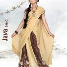 Faux Georgette PartyWear Embroidered Lehenga Sari With Blouse - GW Jaya