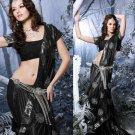 Indian Womens Clothing Saree Embroidered Saree Sari - X2208