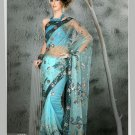 Indian Bollywood Designer Embroiderey Wedding Bridal Saree Sari - CH 1120