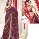 Saree Sari Indian / Pakistan Fancy Designer Embroidered - X1817