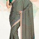 Faux Crape Sarees Sari Designer Printed Casual Fancy Saris - X 823A