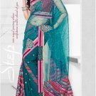 Net Georgette Wedding Designer Embroidered Indian Saree Sari With Blouse-TS21017