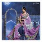 Georgette Designer Partywear Printed Sarees Sari With Blouse  - LPT 2028