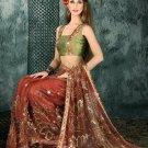 Indian Bollywood Designer Embroiderey Wedding Bridal Saree Sari - CH 1107