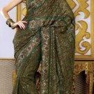 Indian Womens Clothing Saree Embroidered Saree Sari - X212
