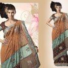 Embroiderd Bridal Wedding Designer Sarees Sari - X2264