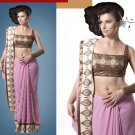 Embroiderd Bridal Wedding Designer Sarees Sari - X2270