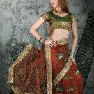 Indian Bollywood Designer Embroiderey Wedding Bridal Saree Sari - CH 1110