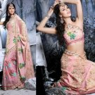 Indian Womens Clothing Saree Embroidered Saree Sari - X2217