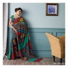 Faux georgette Light Green Partywear Printed Saree Sari With Blouse - LPT 1994