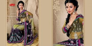 Net Wedding Designer Embroidered Saris Saree With Blouse - TS 23016 N