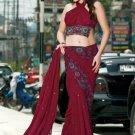 Indian Bollywood Designer Embroidered Saree Sari - X3016