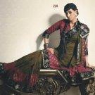 Faux Georgette Wedding Designer Embroiderey Saree Sari With Blouse - X 226 N