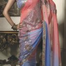 Faux Georgette Wedding Designer Embroiderey Saree Sari With Blouse - X 221 N