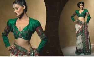 Faux Georgette Wedding Designer Embroiderey Saree Sari With Blouse - X 246 N