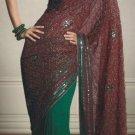 Net Georgette Wedding Designer Embroiderey Saree Sari With Blouse - X 224 N