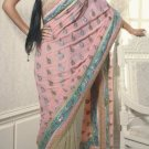 Faux Georgette Wedding Designer Embroiderey Saree Sari With Blouse - X 228 N