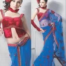 Saree Bridal Net Georgeous Embroidery Sari With Unstich Blouse - X 827 N