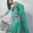 Saree Bridal Faux Georgette Georgeous Embroidery Sari With Unstich Blouse-X811 N