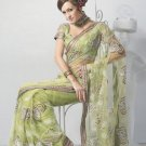 Saree Bridal Net Georgeous Embroidery Sari With Unstich Blouse - X 821 N
