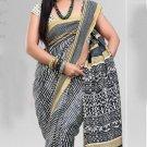 Silk Crepe Casual Partywear Designer Printed Sarees Sari With Blouse - X 4756B N