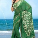 Partywear Faux Georgette Designer Exclusive Printed Saree With Blouse- NT 163a N