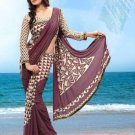 Partywear Faux Georgette Designer Exclusive Printed Saree With Blouse- NT 163b N