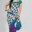 Silk Crepe Casual Partywear Designer Printed Sarees Sari With Blouse - X 4708A N