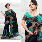 Wedding Net Georgeous Designer Embroidered Sari With Unstitch Blouse - ST 01b N