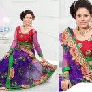 Wedding Net Georgeous Designer Embroidered Sari With Unstitch Blouse - ST 03b N