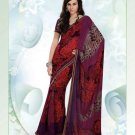 Partywear Faux Georgette Exclusive Printed Saris Saree With Blouse - VF 8397B N