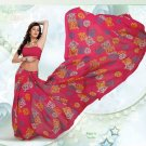 Partywear Faux Georgette Exclusive Printed Saris Saree With Blouse - VF 8390A N