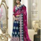 Net Wedding Bridal Embroidered Lehenga Saris Saree With Blouse - RS 405 N