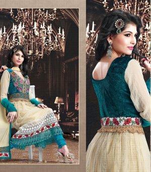 Net & Georgette Bollywood Wedding Salwar Kameez Shalwar Suit - DZ 5119b N