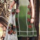 Crepe Jacquard Bollywood Wedding Salwar Kameez Shalwar Suit - DZ 5109b N