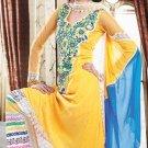 Chiffon Jacquard Bollywood Wedding Salwar Kameez Shalwar Suit - DZ 5116c N