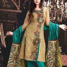 Silk Jacquard Bollywood Wedding Salwar Kameez Shalwar Suit - DZ 5105a N