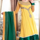 Georgette Bollywood Wedding Salwar Kameez Shalwar Suit - DZ 5112b N