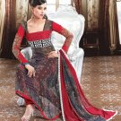 Georgette Bollywood Wedding Salwar Kameez Shalwar Suit - DZ 5127b N