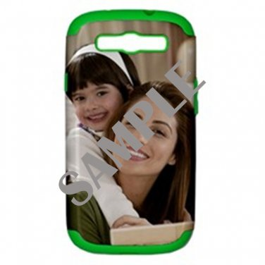 Samsung Galaxy S III Hard Shell Case (PC+Silicone) (Green)