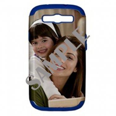 Samsung Galaxy S III Hard Shell Case (PC+Silicone)(Blue)