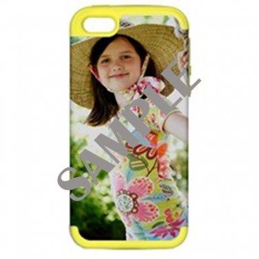 Apple iPhone 5 Hardshell Case (PC+Silicone) (Yellow)