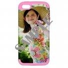 Apple iPhone 5 Hardshell Case (PC+Silicone) (Pink)